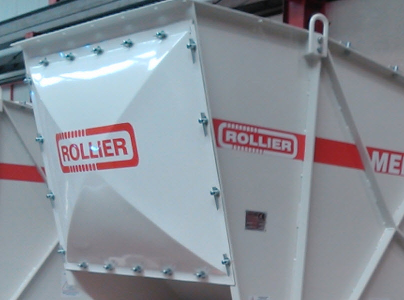Rear cover in a Rollier sizer
