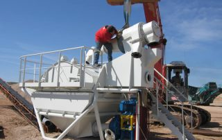 Grupo de lavado de arenas GSS en montaje