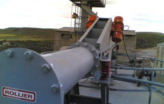 Transportador tubular en silo