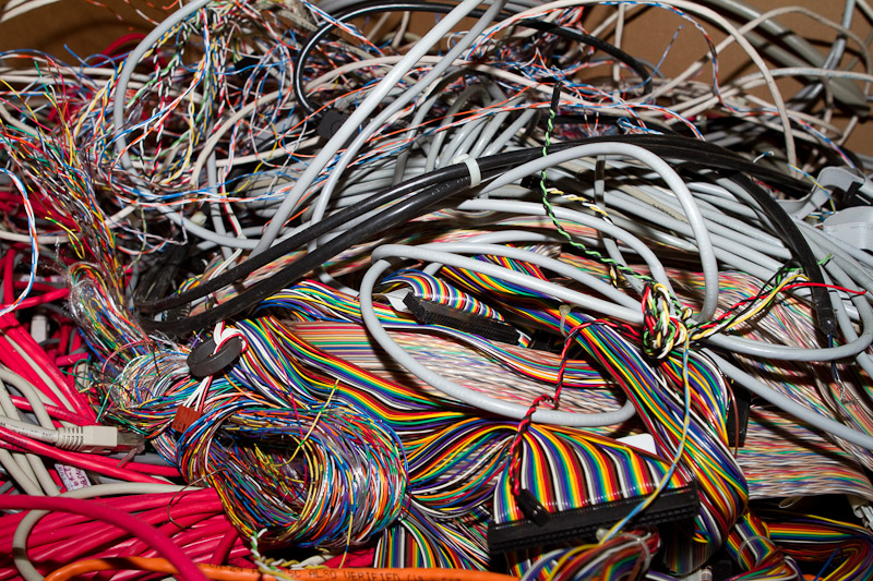 computer cables for recycling