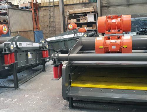 Tres cribas para el reciclaje de residuos electrónicos en Japón diseñadas y fabricadas por Rollier